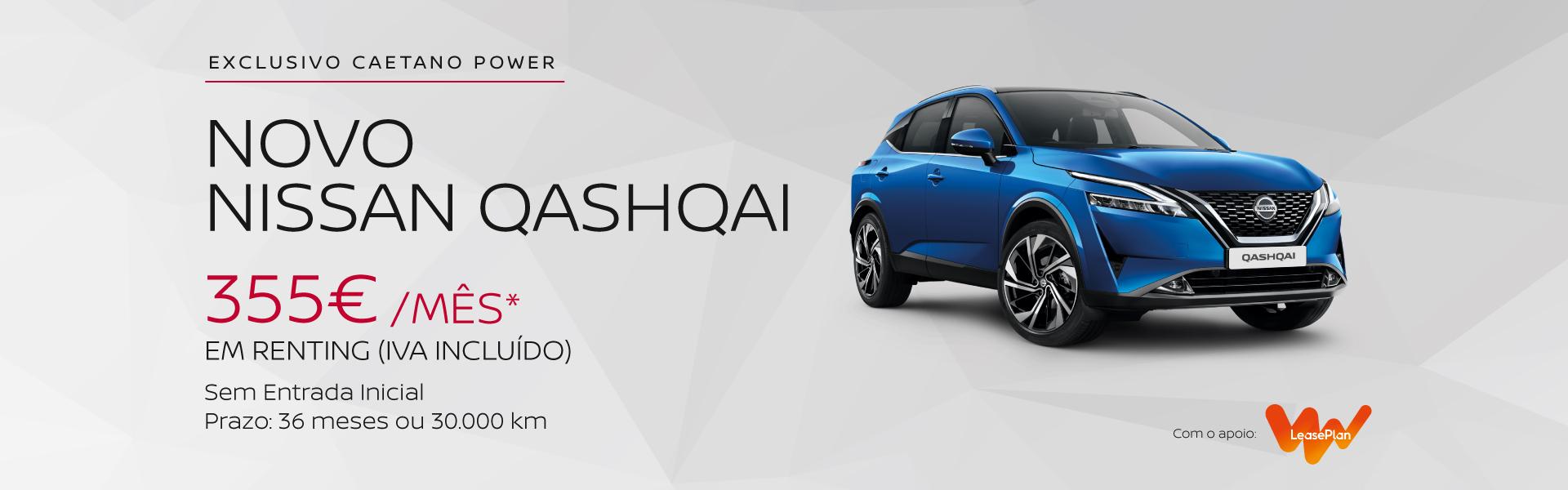Novo Nissan Qashqai em renting