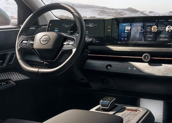 interior do Nissan Ariya