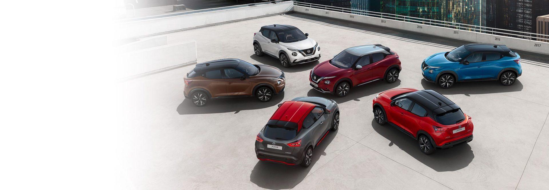 versões de cores do Nissan Juke