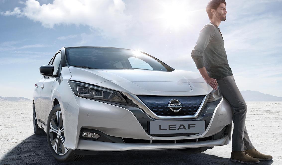 dianteira do Nissan Leaf