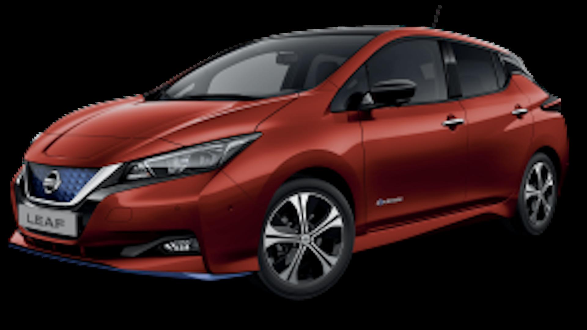Nissan Leaf em vermelho