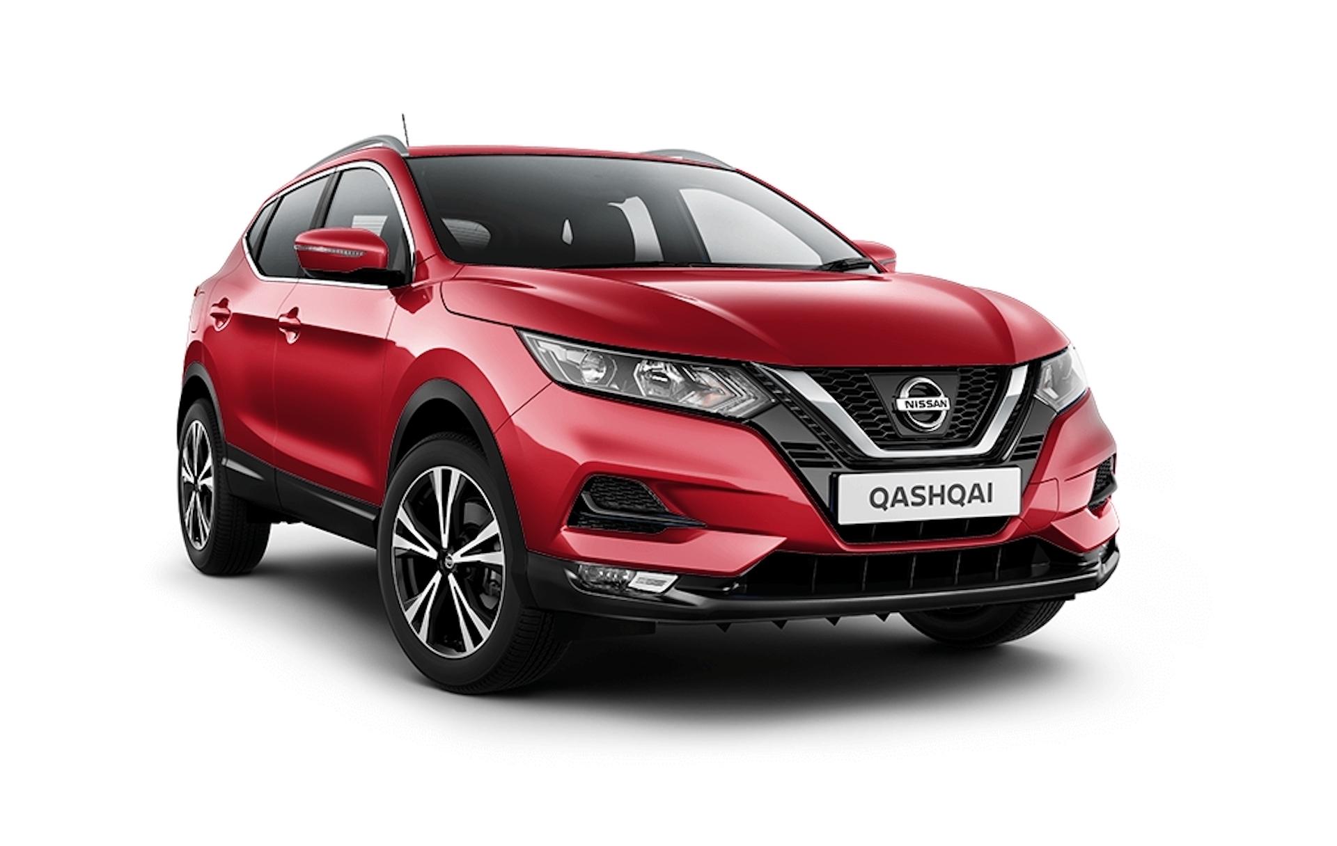 Nissan Qashqai em vermelho